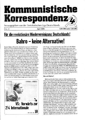 KK 21/78 - International Bolshevik Tendency