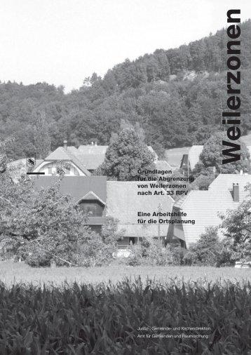 Weilerzonen - Justiz-, Gemeinde - Kanton Bern