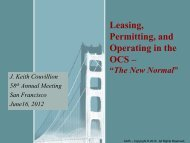 Leasing, Permitting, and Operating in the OCS –