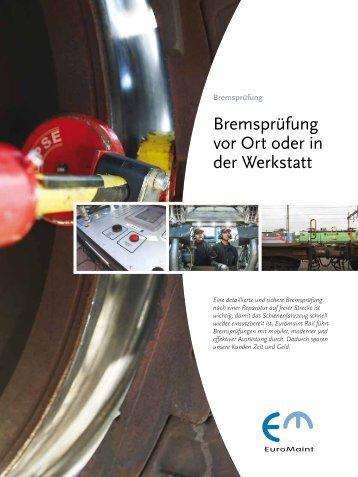 Bremsprüfung (PDF) - EuroMaint Rail