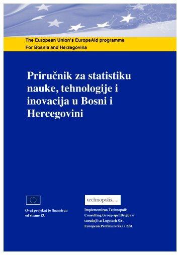 Prirućnik za statistiku nauke, tehnologije i inovacija u Bosni i ...