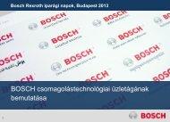Bosch Csomagolástechnika - Bosch Rexroth