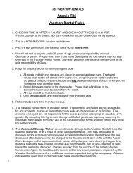 Vacation Rental Rules and Regulations - Home :: 365 Vacation ...