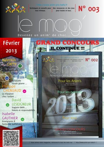 Télécharger le MAG' en PDF - Anim-Pro-Bafa.fr