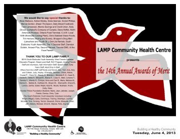 to download the Awards of Merit 2013 Program - LAMP CHC!