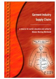 Garment Industry Supply Chains - Women Working Worldwide