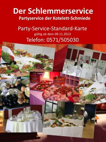 Party-Service-Karte - Kotelett-Schmiede