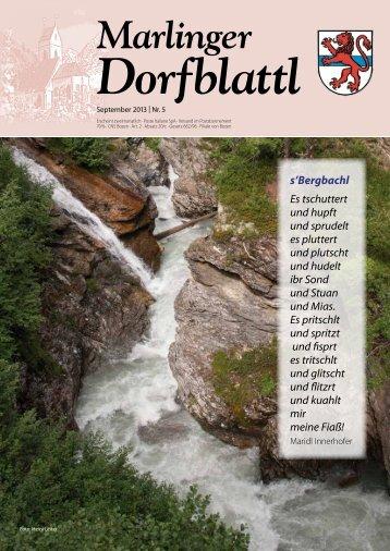 Ausgabe September 2013 - Marling Info