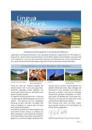 11. Oktober 2013, Romanisch lernen: Lingua natura - Biosfera Val ...