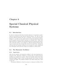 Chapter 6: Special Classical Physical Systems