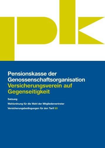 Versicherungsbedingungen 60 - Pensionskasse der ...