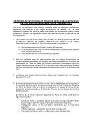 Descarga los criterios de clasificación del Equipo paralímpico Español
