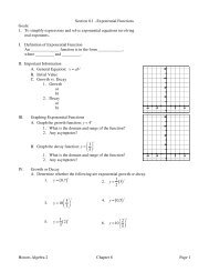 Algebra 2 Chapter 8 Review answers - WilsonSD org
