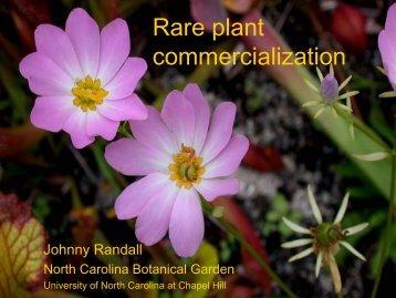 Rare plant sales CPC.pdf - Center for Plant Conservation