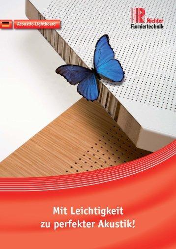 Mit Leichtigkeit zu perfekter Akustik! - Richter-Furniertechnik GmbH ...
