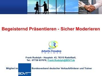 Beispiel Präsentationstraining - Frank Rudolph ...