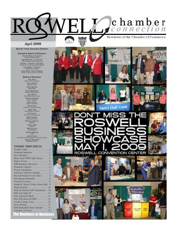 April 2009 - Roswell, New Mexico, Chamber of Commerce