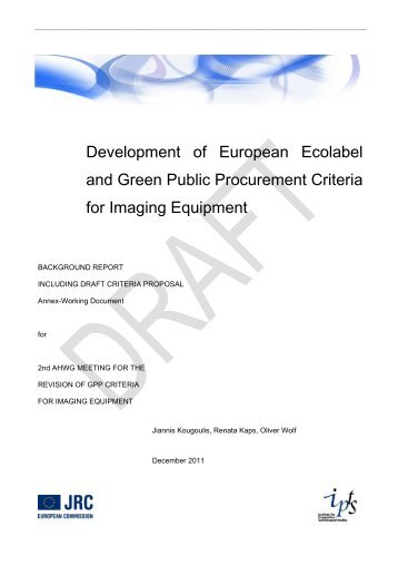 Development of European Ecolabel and Green Public Procurement ...