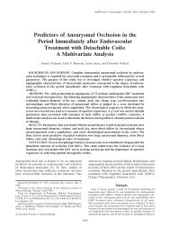 Predictors of Aneurysmal Occlusion in the Period Immediately after ...