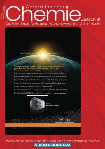 österreichische Chemie-Zeitschrift Ausgabe 06-2013