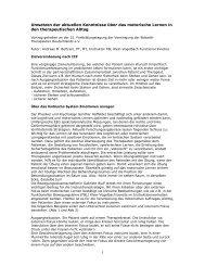 1 Umsetzen der aktuellen Kenntnisse über das motorische Lernen ...