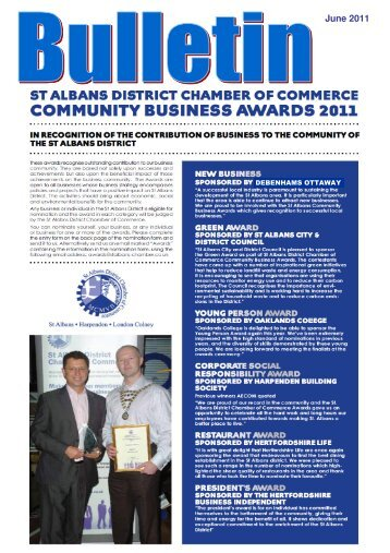 June 2011 - redone - St Albans Chamber of Commerce