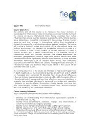 Course Title International Trade Course Objectives: The primary aim ...