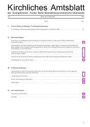 Kirchliches Amtsblatt - Kirchenrecht EKBO