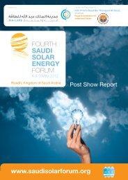 Post Show Report - Saudi Solar Energy Forum 2012