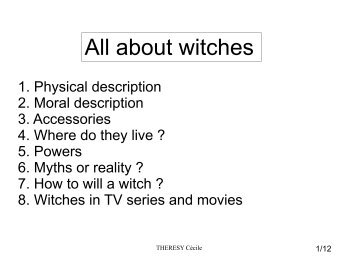 All about witches