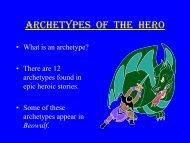 ARCHETYPES OF THE HERO