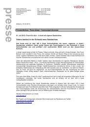 Medienmitteilung (PDF, 156 KB) - Valora