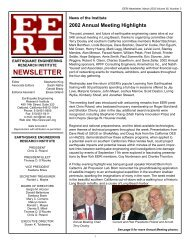NEWSLETTER - Earthquake Engineering Research Institute