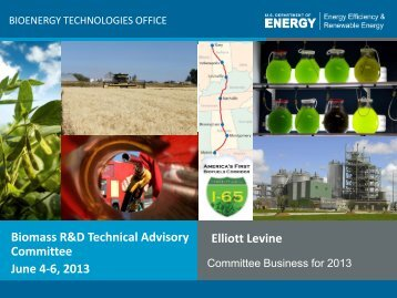 Committee: Overview and DOE Updates on Biomass R&D Activities