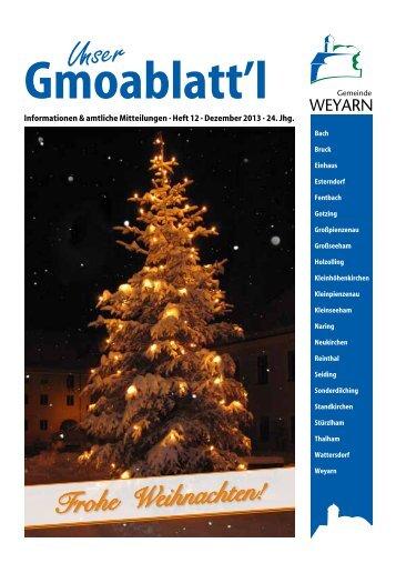Gmoablatt'l - Gemeinde Weyarn