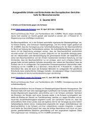 Ausgewählte Urteile und Entscheide des Europäischen Gerichtshofs ...