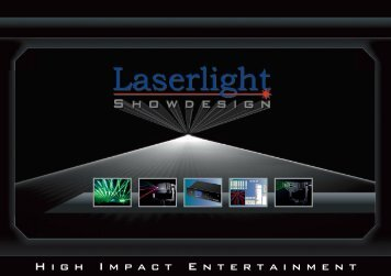 H i g h I m p a c t E n t e r t a i n m e n t - Laserlight Showdesign