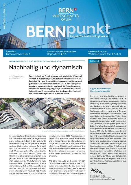 Ausgabe März 2013 - Wirtschaftsraum Bern