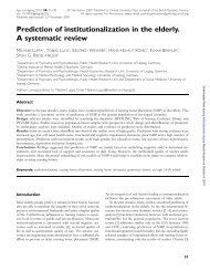 Prediction of institutionalization in the elderly. A systematic ... - GrG