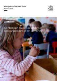Leitfaden Bedarfserhebung (PDF, 9 Seiten, 288 kB) - Volksschulamt