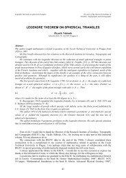 LEGENDRE THEOREM ON SPHERICAL TRIANGLES