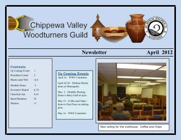 April, 2012 Newsletter - WI Woodturners Expo