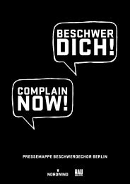 PressemaPPe Beschwerdechor Berlin - Nordwind Festival