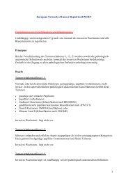 Europäisches Krebsregisternetz - European Network of Cancer ...