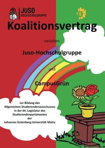 Koalitionsvertrag lesen… - CampusGrün Mainz