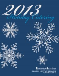 2013 Holiday Catering Menu (PDF) - Connecticut Science Center