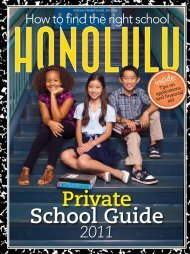 Private School Guide 2011 - Honolulu Magazine