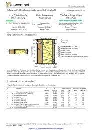 U-Wert-Berechnung Aussenwand 18 Putzfassade - KMH-Bausysteme