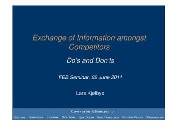 (Microsoft PowerPoint - Slides - Lars Kjolbye - Information Exchange ...