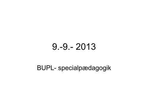 grupper - Oplæg v. Aase Tromborg - 09.09.2013 - Bupl